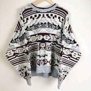 Vintage Men's Chunky Knit Grandpa Sweater
